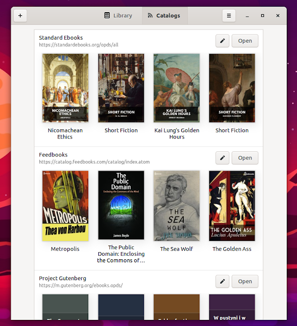Linux eBook Reader Foliate 2.2.0 Adds Library View, eBook Discovery and Comic Book Support