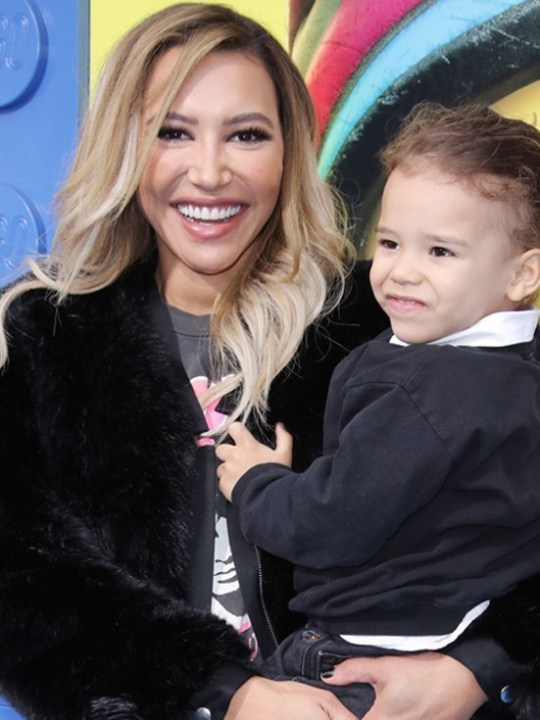 Naya Rivera pictured holding her son Josey
