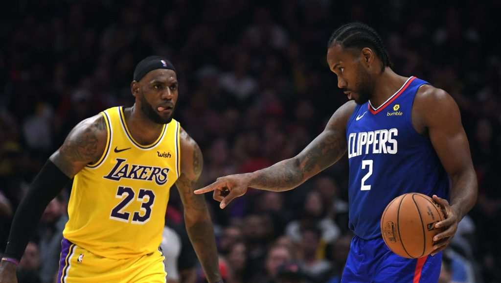 kawhi LeBron lakers clippers