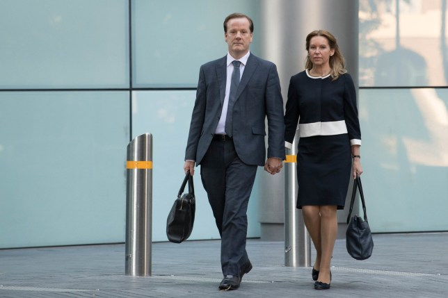Former Conservative MP Charlie Elphicke, with MP for Dover Natalie Elphicke, arriving at Southwark Crown Court in London where he faces three charges of sexual assault. PA Photo. Picture date: Monday July 20, 2020. See PA story COURTS Elphicke. Photo credit should read: Stefan Rousseau/PA Wire
