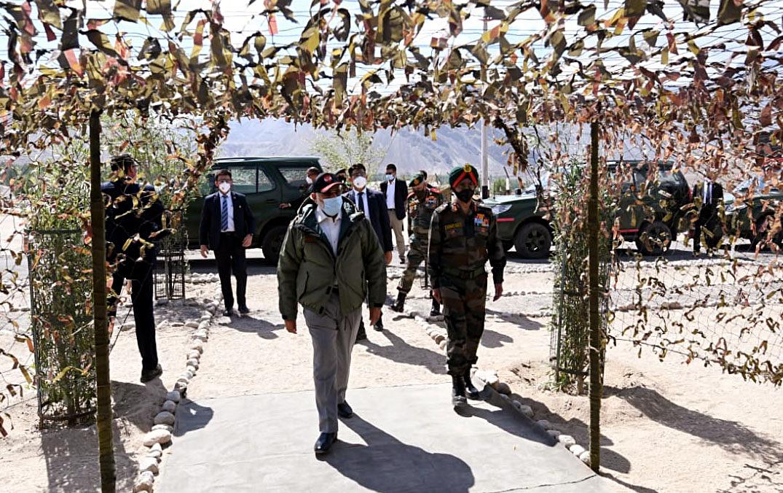 Prime Minister Narendra Modi visits Leh, Ladakh.