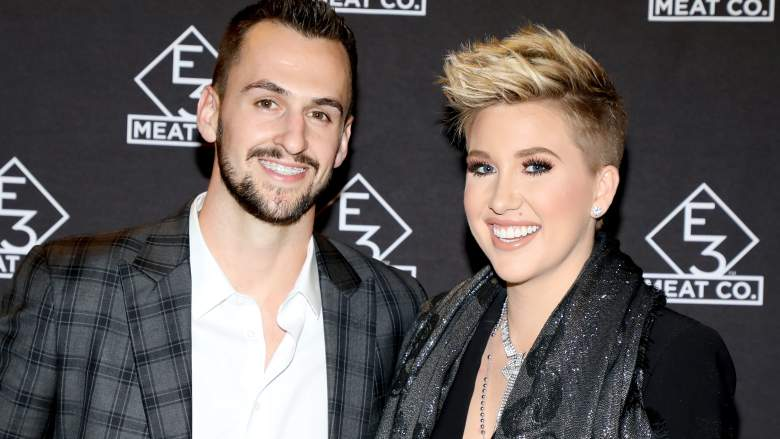 Nic Kerdiles (L) and Savannah Chrisley attend the grand opening of E3 Chophouse Nashville on November 20, 2019 in Nashville, Tennessee.