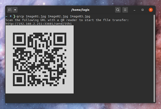 qrcp: Transfer Files Between Desktop and Mobile Devices Over Wi-Fi Scanning A QR Code