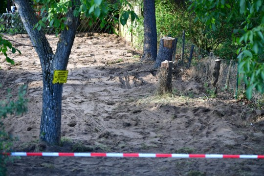 HANOVER, GERMANY - JULY 29: The allotment, which the police searched for two days in relation to the disappearance of Madeleine McCann, is seen on July 29, 2020 in Hanover, Germany. German Investigators have finished a two day search at an allotment that belonged to Christian Brueckner who has been named as the prime suspect in the disappearance of British child, Madeleine McCann. Madeleine McCann disappeared from an apartment in Praia Da Luz, Portugal, while on holiday with her parents and twin siblings in May, 2007. (Photo by Alexander Koerner/Getty Images)