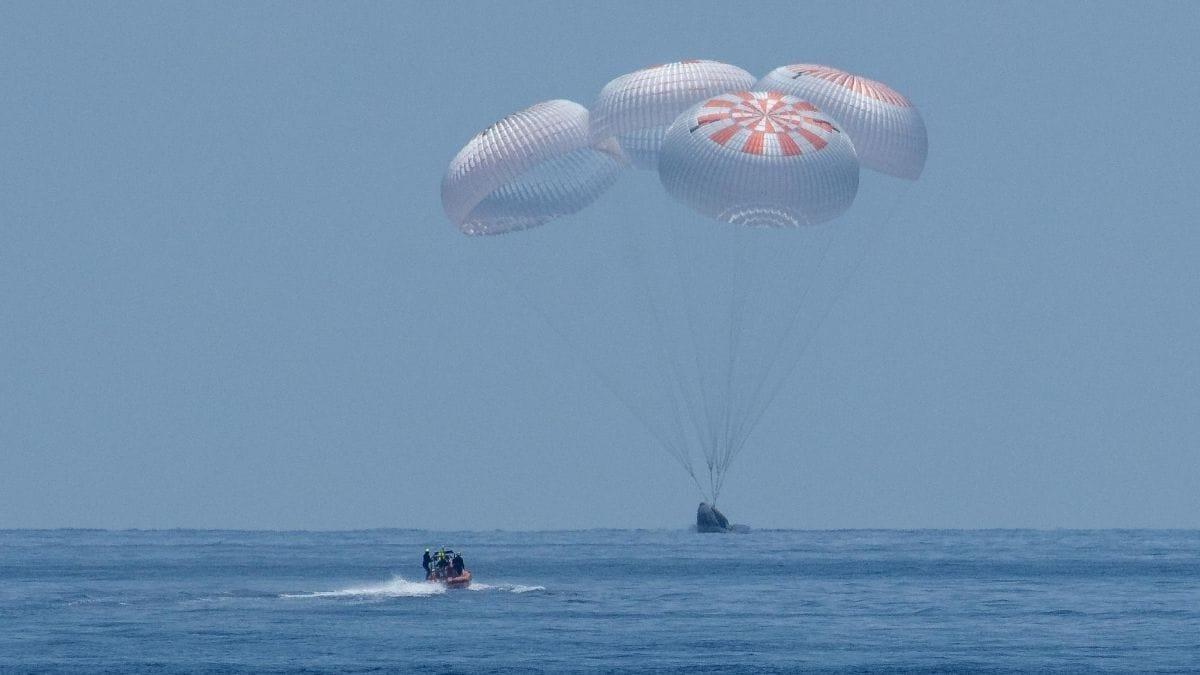 nasa spacex splash down nasa SpaceX NASA Crew Dragon