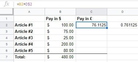 How to Automatically Convert Currencies to Google Sheets