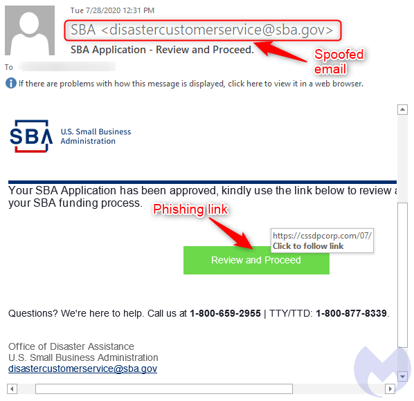 SBA phishing scams: from malware to advanced social engineering;