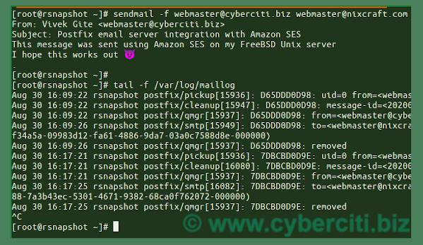 FreeBSD Set AWS SES to Postfix MTA