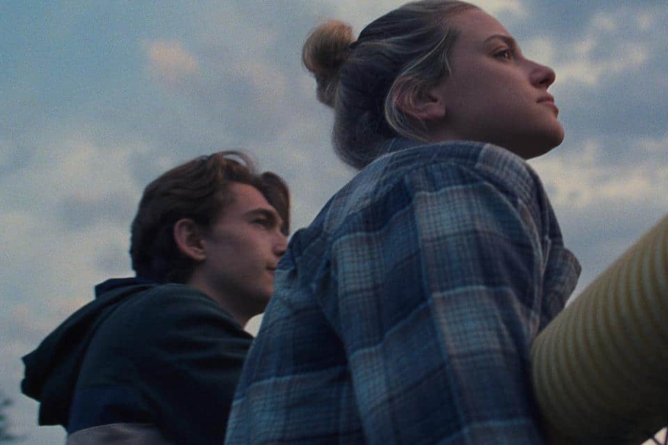 Austin Abrams and Lili Reinhart in a still from Chemical Hearts.