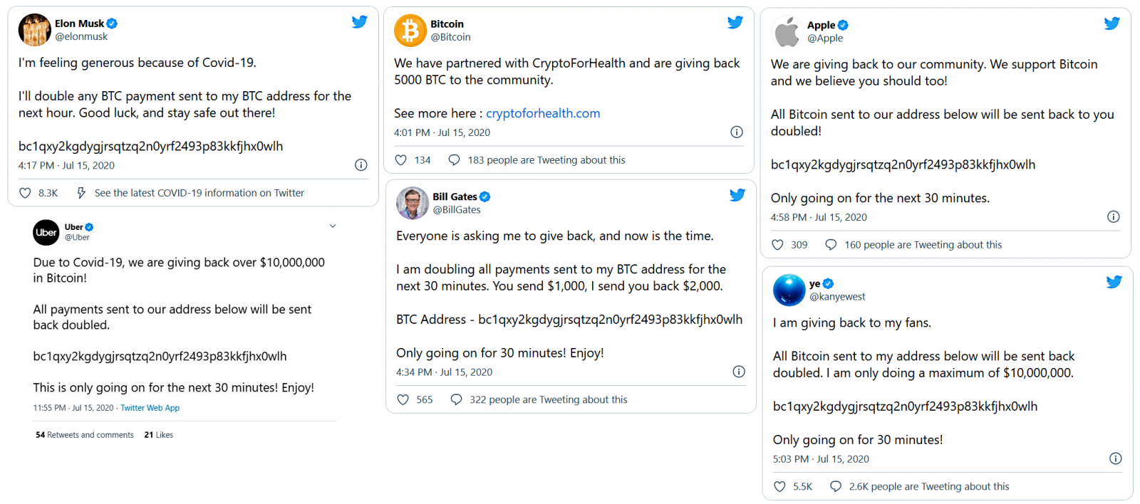 Four suspects accused of twitter hack roles, bitcoin scam