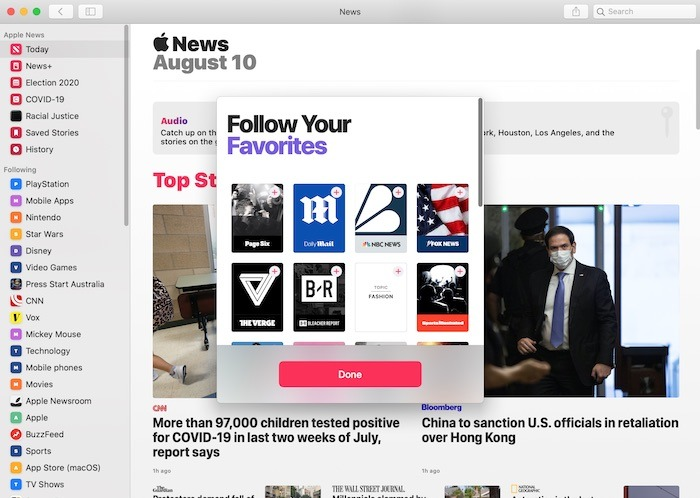 How to customize the Apple News App for Mac