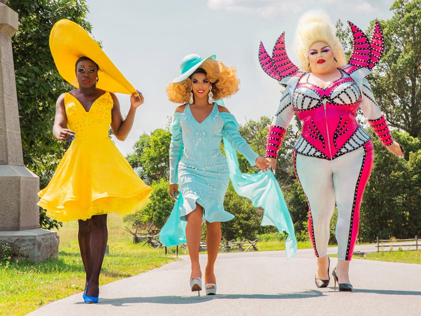 Shangela, Bob the Drag Queen and Eureka O'Hara on We're Here