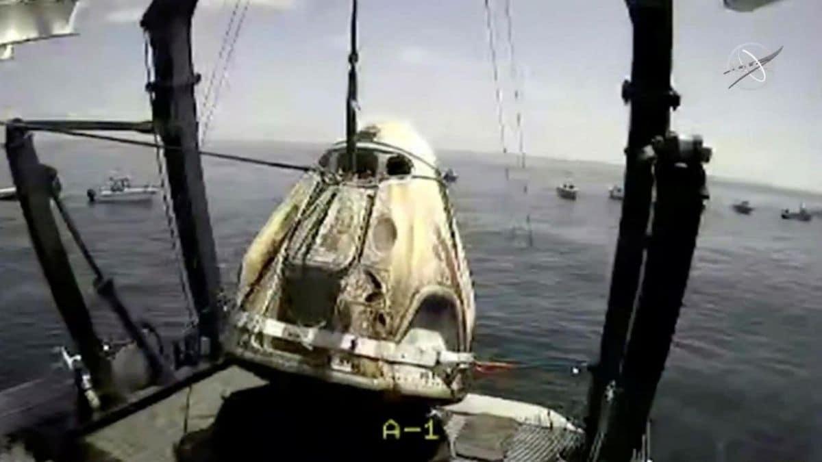 nasa crew dragon splash down nasa NASA SpaceX Crew Dragon