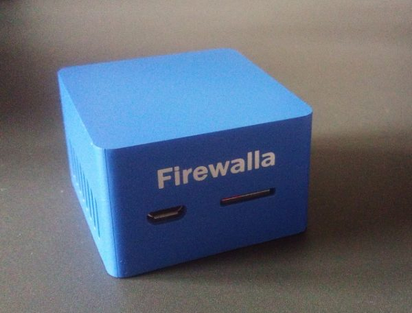 What's small, blue, and it protects your network? Firewalla, man!