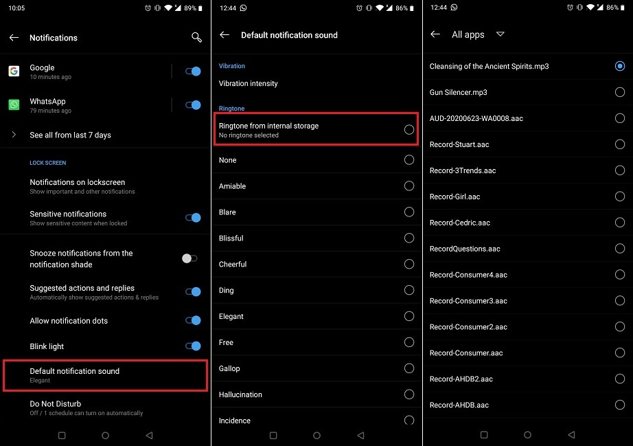 How To Change Notification Sounds Custom Media File