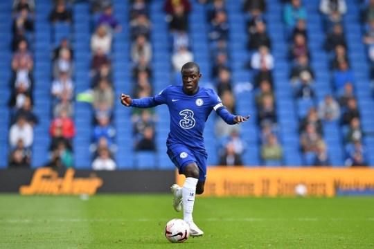 N'Golo Kante runs with the ball during Chelsea's pre-season clash with Brighton