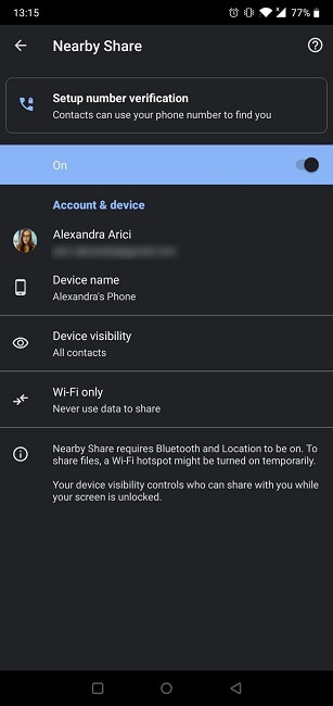 How to Share Content from an Android Device with Nearby Share