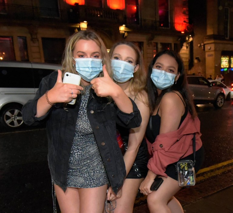 They remembered their face masks