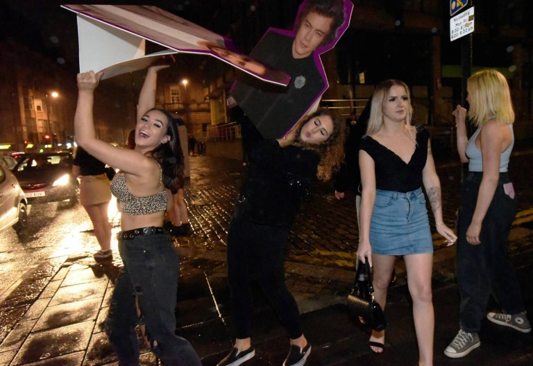 Dated: 20/09/2020 NEWCASTLE CURFEW SATURDAY ... Revellers enjoy a truncated Saturday night out in Newcastle on the second evening when a 10pm curfew was imposed due to the latest coronavirus lockdown restrictions.