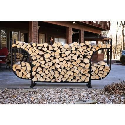 Woodhaven Courtyard Nine-Foot Firewood Log Rack