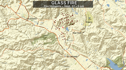Glass Fire - Hotspots