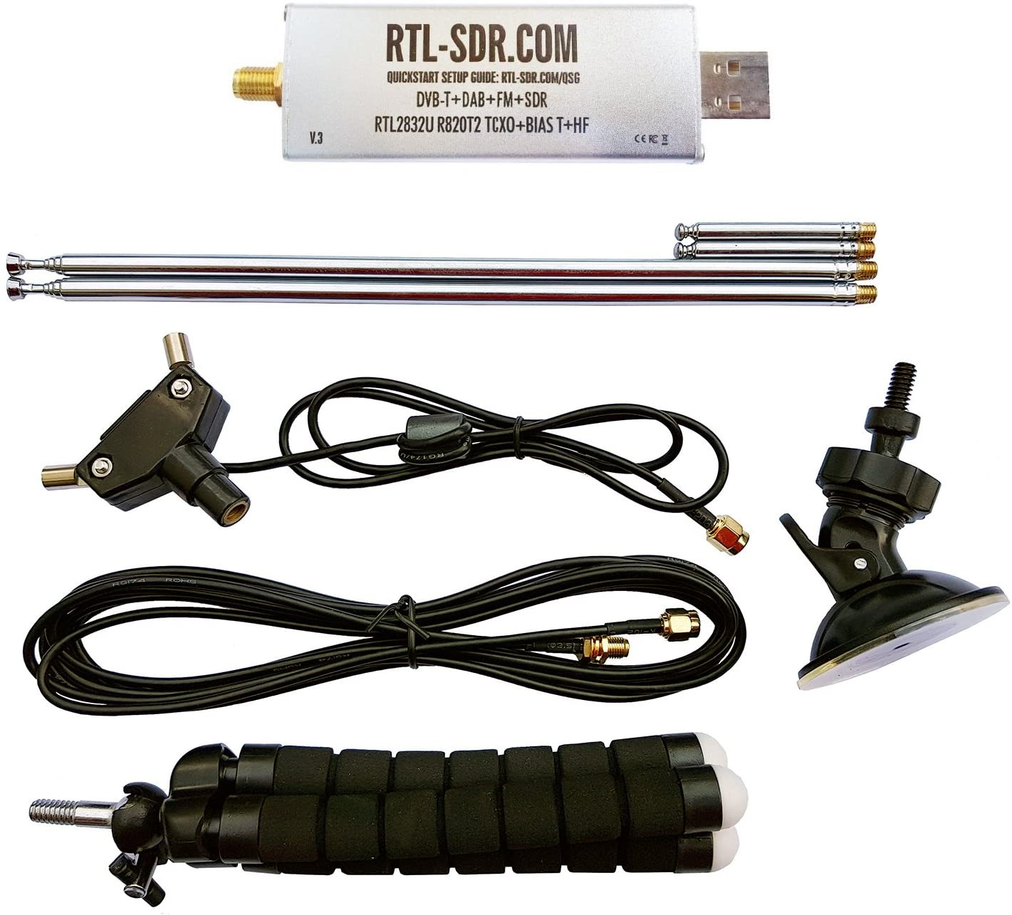 RTL-SDR Blog V3 SDR with Dipole Antenna Kit