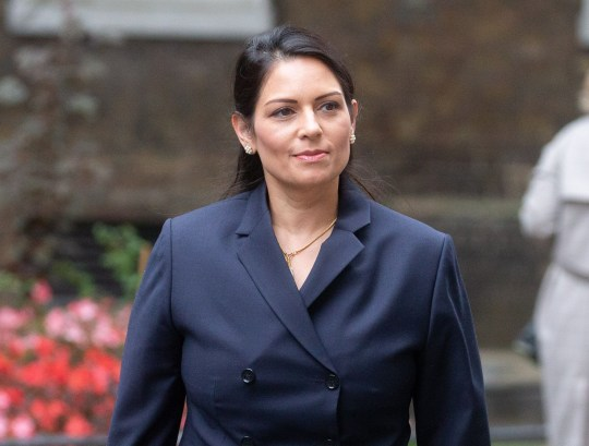 Mandatory Credit: Photo by Mark Thomas/REX (10769550p) Priti Patel, Home Secretary, arrives for the Cabinet meeting which is being held in the Foreign Office. Cabinet meeting, Downing Street, London, UK - 08 Sep 2020