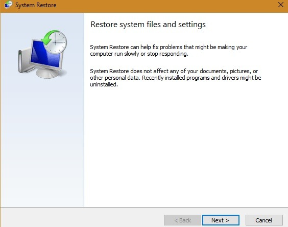What can and can't be done by System Restore for your Windows