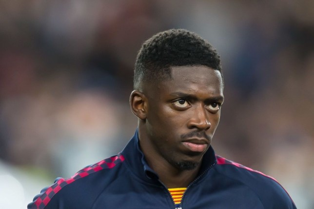 Manchester United transfer target Ousmane Dembele looks on ahead of Barcelona's Champions League clash with Borussia Dortmund