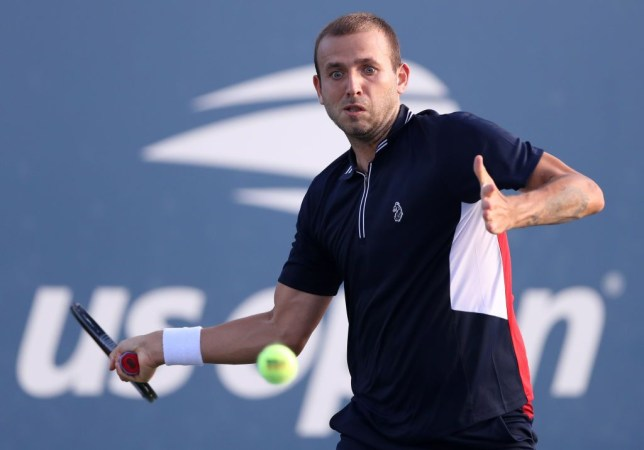 Dan Evans of Great Britain returns a volley during his Men's Singles first round match against Thiago Seyboth Wild of Brazil on Day Two of the 2020 US Open at the USTA Billie Jean King National Tennis Center on September 1, 2020 in the Queens borough of New York City.