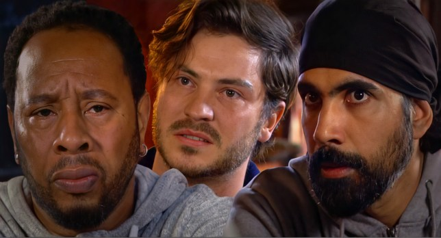 Mitch, Kheerat and Gray in EastEnders