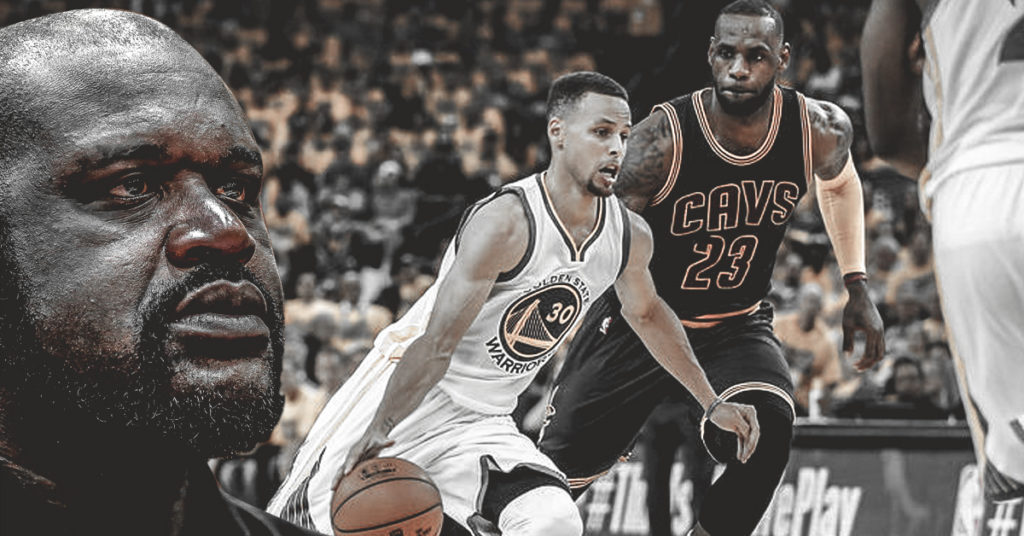 stephen curry, lebron james, shaquille o'neal, NBA