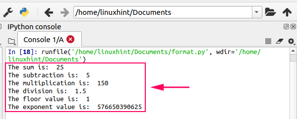 Linux Hint for Python Numbers and Arithmetic Operations