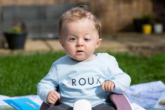 Baby Roux Owen at home