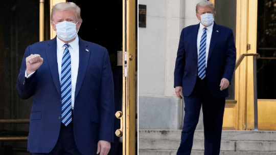 Donald Trump leaves Walter Reed Medical Center