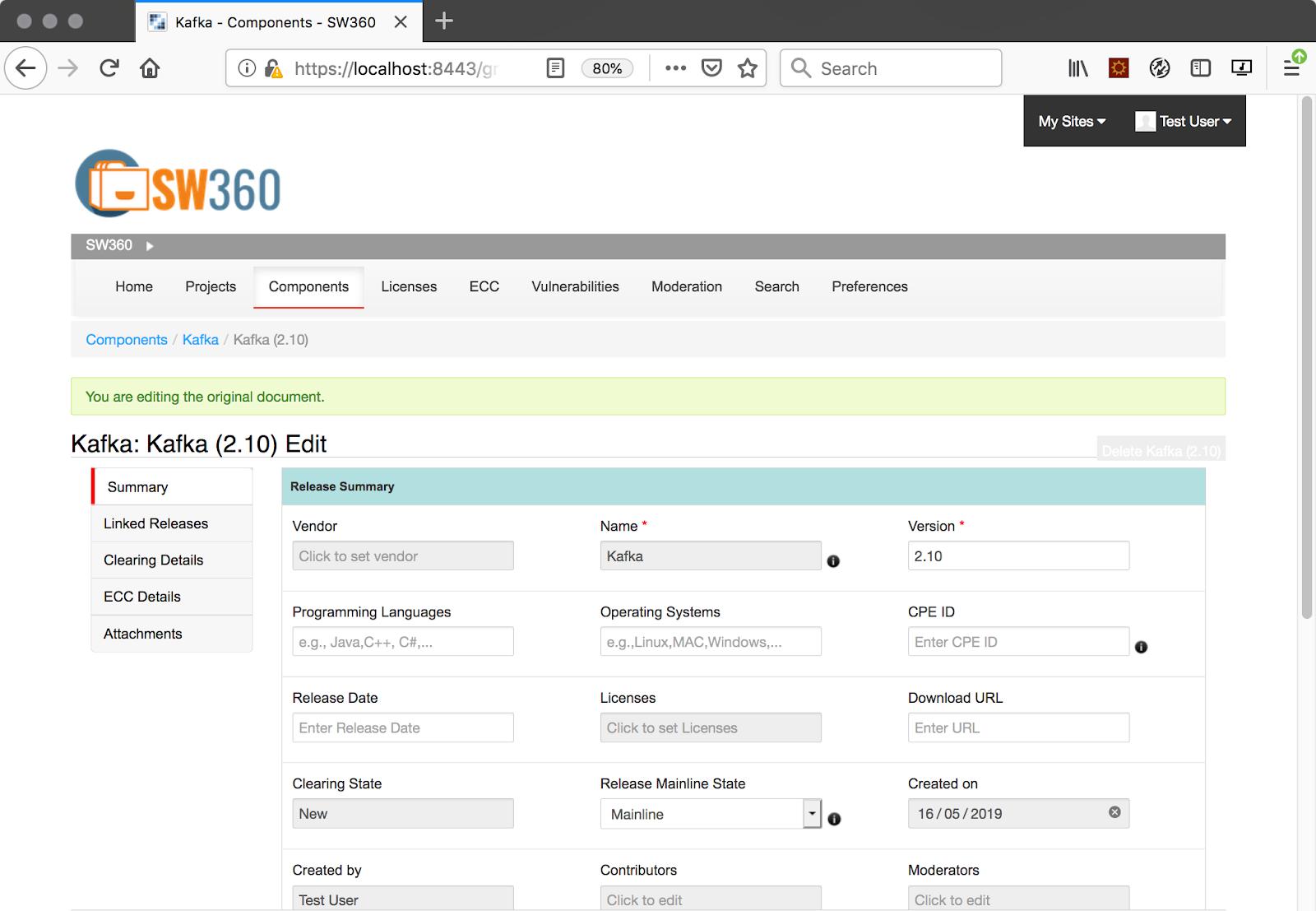 Eclipse SW360: Main features-Boulevard Security
