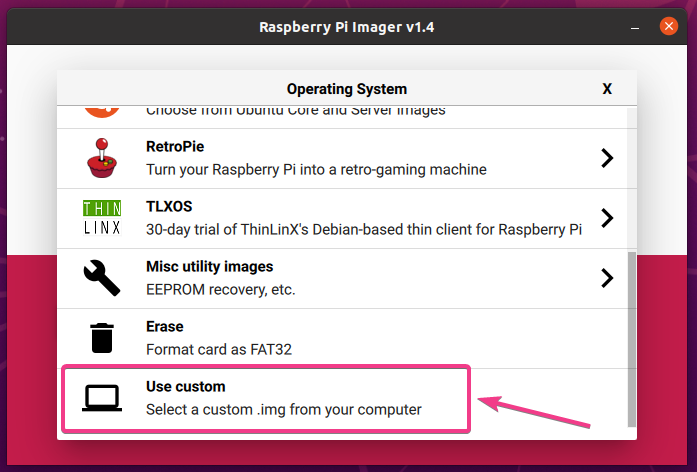 How to instal and use the Linux Hint-Raspberry Pi Imager