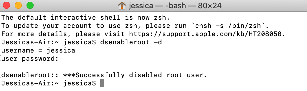 For the sake of security, you should disable root user if no longer required.