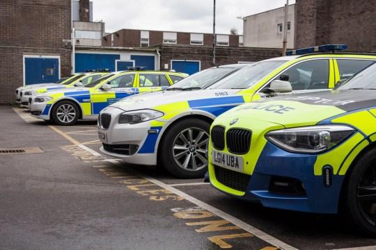 Police cars, Hampshire, UK, 20th Jan 2015