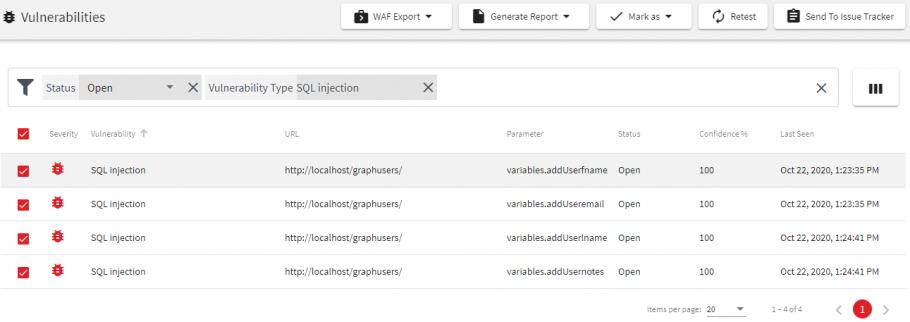 Scanning a GraphQL API for Vulnerabilities