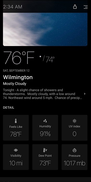 Top Dark Sky Alternatives For Android Today