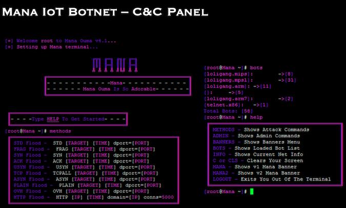 IoT botnet C&C panel