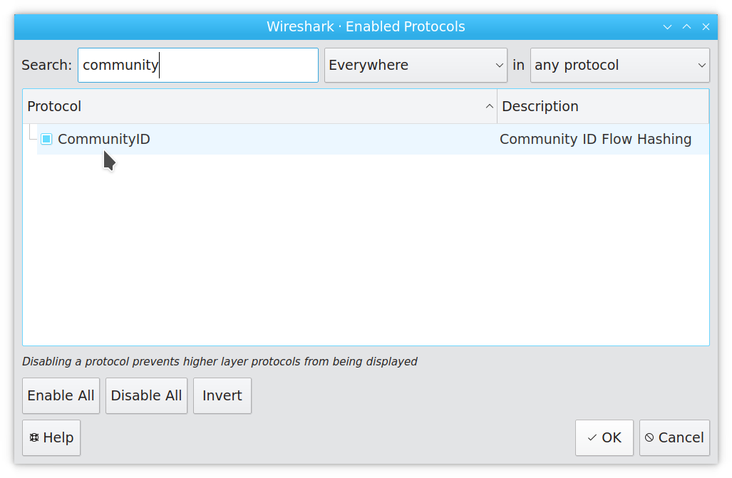 Support for Community IDs for Wireshark