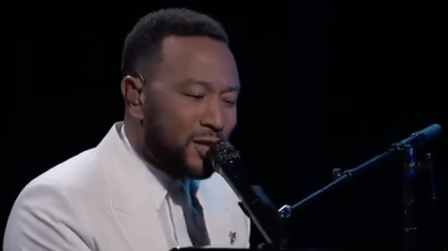 John Legend performing at Billboard Awards