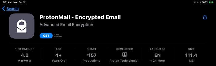 News Apple Protonmail App Store
