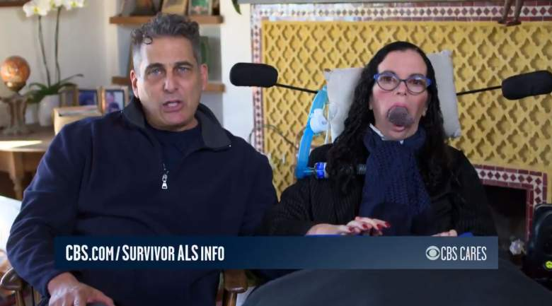 Survivor castaway Jonathan Penner and his wife Stacy, who was diagnosed with ALS in late 2017.