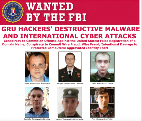 U.S. Charges Russia GRU Intelligence Officers for notorious attacks, including NotPetyaSecurity Affairs