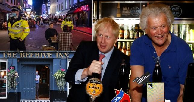 Composite image Tim Martin and Boris