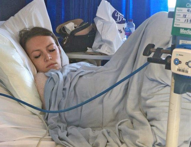 Amy Williams in hospital after a tampon left in for five days caused toxic shock syndrome, septic shock, and left her close to death